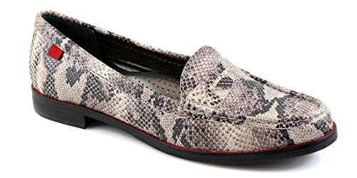 Marc Joseph NY Women's Fashion Shoes East Village Stone Black Cobra Loafer Size 9.5 (More Size/Colors ()
