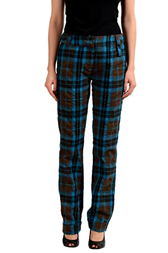 Gianfranco Ferre Wool Multi-Color Checkered Women's Casual Pants US S IT 40