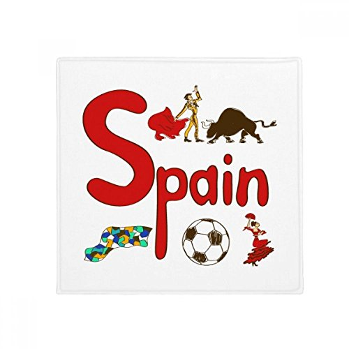 Spain National symbol Landmark Pattern Anti-slip Floor Pet Mat Square Home Kitchen Door 80cm Gift by DIYthinker
