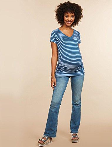 Motherhood Maternity Women's Maternity Super Stretch Secret Fit Belly Boot Cut Denim Jean, Medium Wash, Long (Long Inseam Jeans)