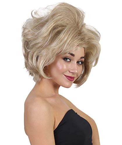 Halloween Party Online Chin Length Bob Wig, Blonde -