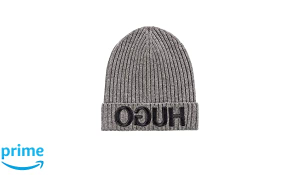 85016a8a990000 Amazon.com: Hugo Boss Unisex-X 537 Grey Wool Beanie Cap 50395795 032:  Clothing