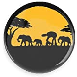 Funny Magnets; Star Wars; Walkers In Africa 3.0 Inch Refrigerator Magnet Inch Magnet