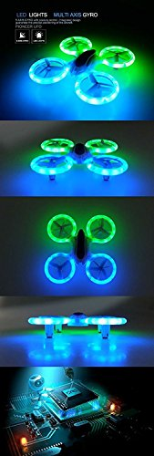 SkyCo Rc RTF Mini Drone Helicopter UFO Drones for Kids Lighting RC Quadcopter 2.4G 4CH 6 Axis with Fantastic LED Lights Original