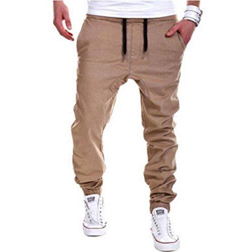 ROBO Pantolones para Hombres Talla Grande Pantolones Largo de Chándal Tether Atléticos Deporte Jogging Trousers, 5 Colores,…