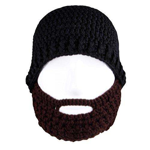 Amurleopard Unisex Knit Beanie Stubble Beard Style2 Black+Co