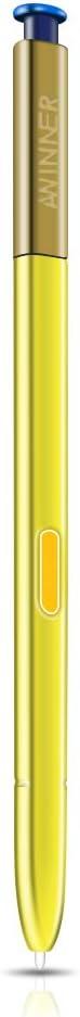 Lapiz AWINNER para Galaxy Note9, Stylus Touch Amarillo