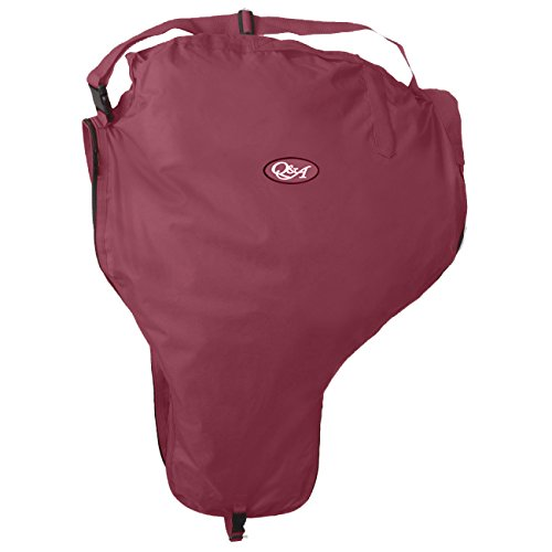 Q&A SUPPLY Nylon Western Saddle Carrier/Saddle Carrying Case in Burgundy
