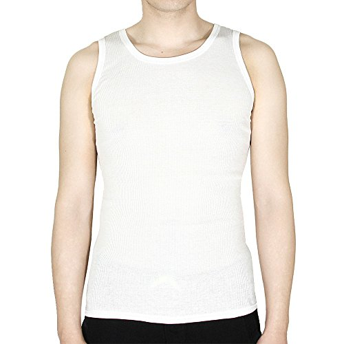 6 Packs 100% Cotton Athletic Men's Basic Tank Top