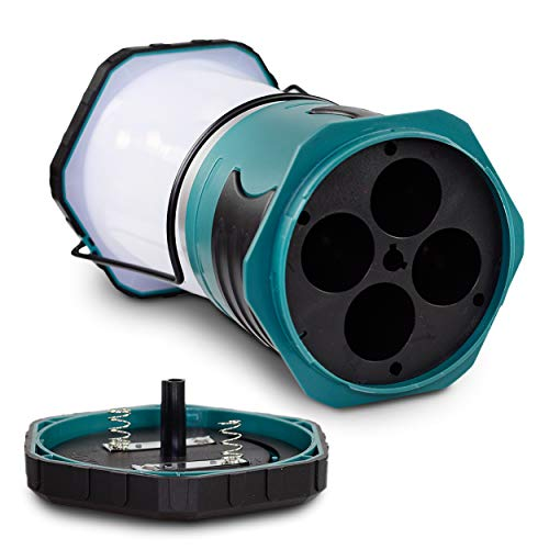 Blazin' Sun 1500 Lumen   Led Lanterns Battery Operated   Hurricane, Emergency, Storm, Power Outage Light   200 Hour Runtime (Teal) by Blazin' Bison (Image #3)