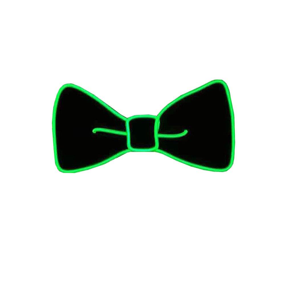 LED Fliege Kostüm Zubehör,Unisex Leuchtende Fliege Angetrieben durch LED-Batterie,Drei Blitzmodi für Fancy Dress Party/Party/Halloween Karneval/personalisierte Dekoration. (Fluoreszierendes Grün)