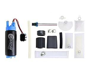 qfs 352ft 340 lph e85 ethanol compatible fuel pump with installation kit automotive. Black Bedroom Furniture Sets. Home Design Ideas