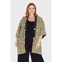 Kimono Oriente Floral Plus Size
