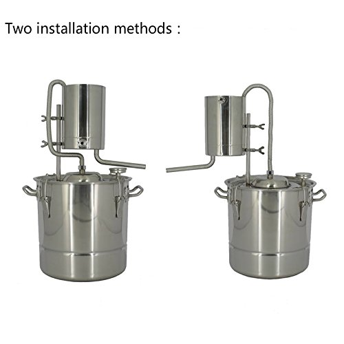20 Litres DIY 2 Pots Moonshine Still Home Distiller for Making 304 Stainless Steel Wine Alcohol Distiller Fermentation Barrels With Water Pump by AIMIEE_JL