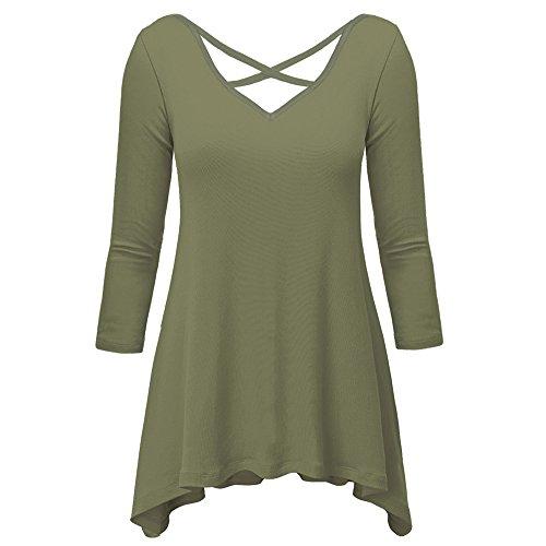 PZZ Womens Sleeve Undershirt T Shirt