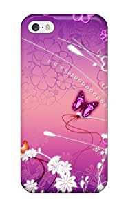 For Iphone 5/5s Tpu Phone Case Cover(butterfly )