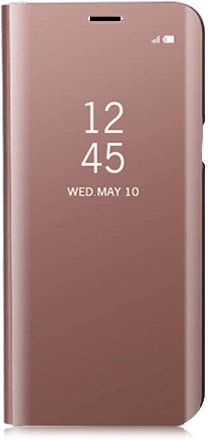 2019 2019 Mirror Gold Case,Suchling Mirror Makeup Case Luxury Slim View Standing Clear Flip Kickstand Protective Full Cover Case for Samsung Galaxy A70 Galaxy A70