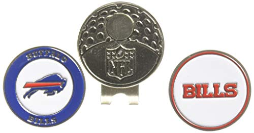 Team Golf NFL Buffalo Bills Golf Cap Clip with 2 Removable Double-Sided Enamel Magnetic Ball Markers, Attaches Easily to Hats