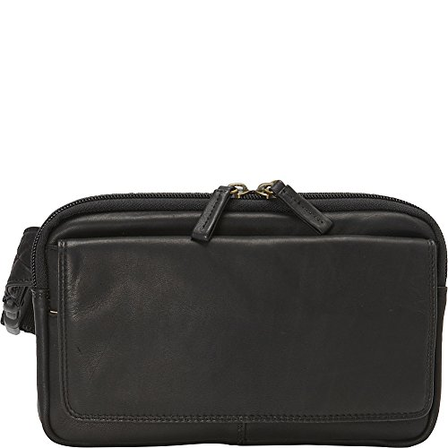 Derek Alexander Top Zip Fanny Pack (Black) by Derek Alexander Leather