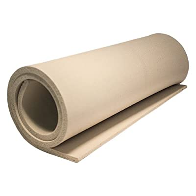 "R015 Rubber Plain - Tan, 18"" X 36"" X 3/8"""