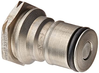 Eaton Hansen 2KLF Stainless Steel Hydraulic Fitting Plug with O-ring and Valve