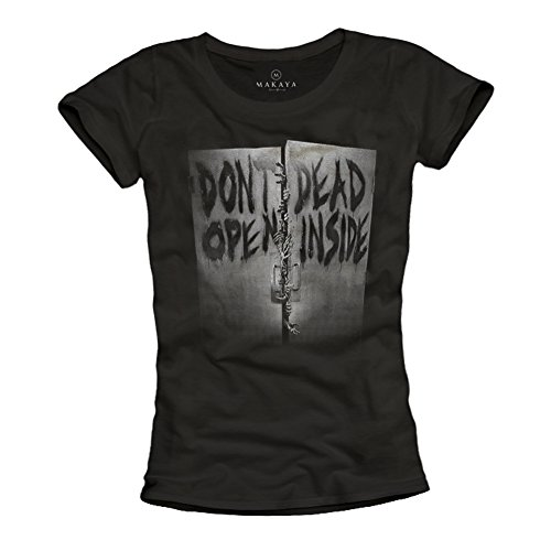INSIDE T Magliette OPEN shirt nera DON'T Nero stampe DEAD con donne 0PxY0