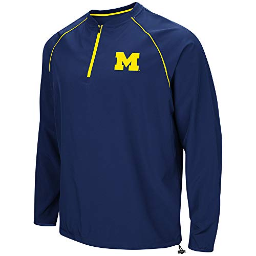 Colosseum NCAA Men's The Bigs Windbreaker, Large University of Michigan Wolverines