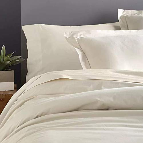Donna Karan Ultra Fine Collection King Pillow Sham Ivory 600 Thread Count Cotton
