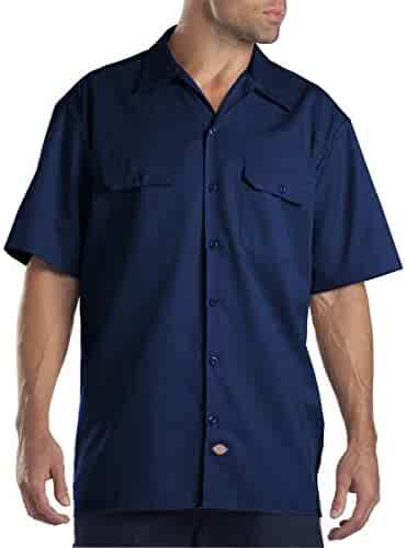 Dickies Men's Short-Sleeve Work Shirt (2 Pack - Medium, Dark Navy)