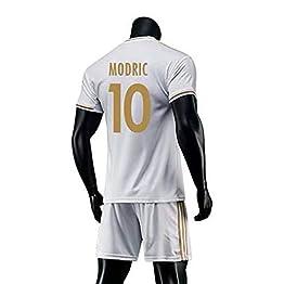 HJM Luka Modric #10 Jersey Soccer Masculin Set-Respirant, Séchage Rapide