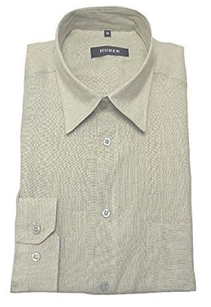 HUBER Leinen Hemd beige Natur Camel 0056 Bequeme Passform S bis 5XL   Amazon.de  Bekleidung 37e670f5ef