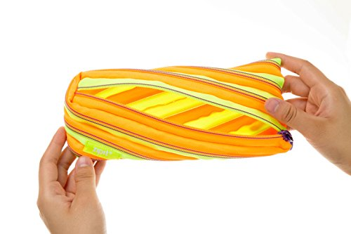 ZIPIT Twister Pencil Case, Lime and Orange Photo #4