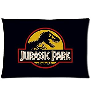 Jurassic Park 20X30 Two Sides Custom Cotton & Polyester Pillow Case Cover Cushion Cover Model: CHH-0385 (Build-to-Order)