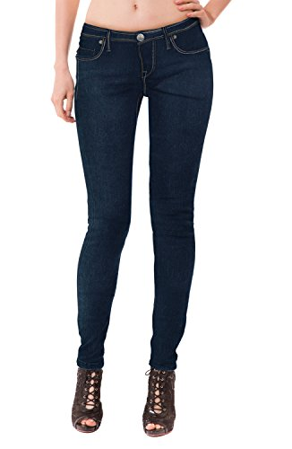 HyBrid & Company Womens Super Comfy Stretch Denim 5 Pocket Jean P22885SKX Blueblack ()