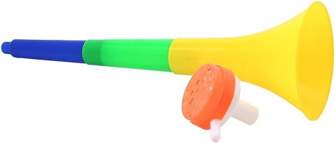 Manyo fútbol Vuvuzela plástico de estadio con OX Horn Shape Game ventiladores cheerleading ravitaillement Props Trompeta fiesta Toy Random entrega: Amazon.es: Deportes y aire libre
