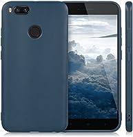 Kit Capa Capinha Ultra Fina Fosca Xiaomi Redmi Mi A1 5x + Película de Gel - AzulEscuro