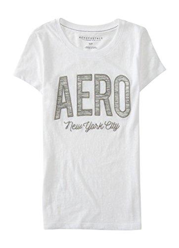 Aeropostale Women's Space-Dye Aero Graphic T Shirt