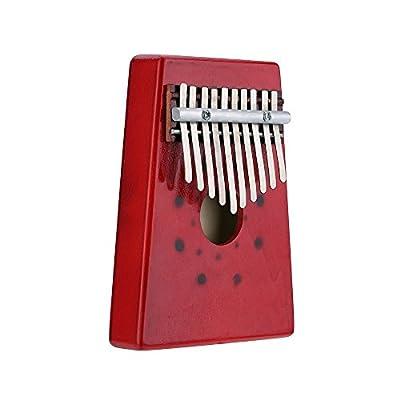 SODIAL(R)10 Keys Birch Finger Thumb Piano Mbira