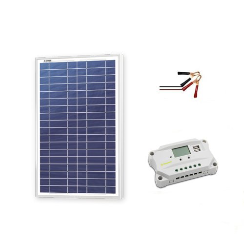 Newpowa 30w Watt 12v Solar Panel + PWM 10A 12v Smart Chargin