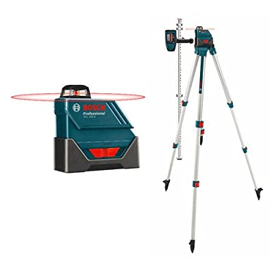 Bosch GLL150ECK-RT Self-Leveling 360-Degree Exterior Laser with LD3 Detector (Certified Refurbished) by Bosch