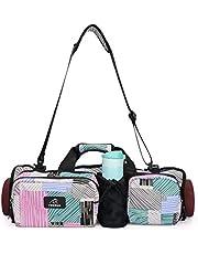ONEGenug - Bolsa de lona para esterilla de yoga, con bolsillos plegables, bolsa de hombro, multifuncional, impermeable, esterilla de yoga y bloques de yoga