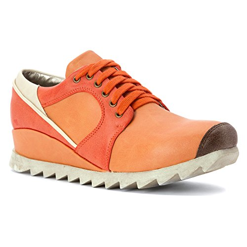 2 Lips Too Women's Ripped Fashion Sneaker, Coral/Orange, 6 M US