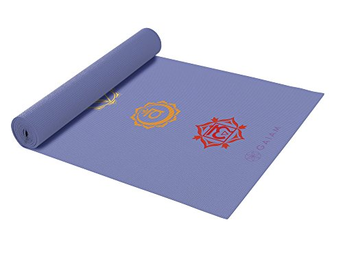 Gaiam Yoga Mat – Classic 4mm Print Exercise & Fitness Mat for All Types of Yoga, Pilates & Floor Exercises (68″ x 24″ x 4mm Thick)