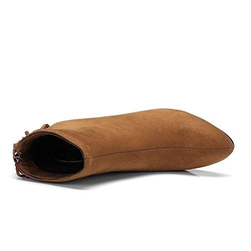 Boots Platform BalaMasa Urethane BalaMasa Womens Zipper Comfort Womens Yellow x6qgw60S4