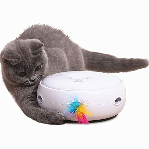 Lampop Katzenspielzeug Elektrisch Spielzeug mit Feder interaktives Spielzeug für Katzen, Automatisch Rotierend…
