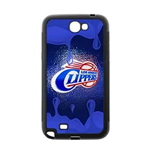 Fashionable designed Samsung Galaxy Note 2 TPU Phone Case with LA Clippers-by Allthingsbasketball Kimberly Kurzendoerfer