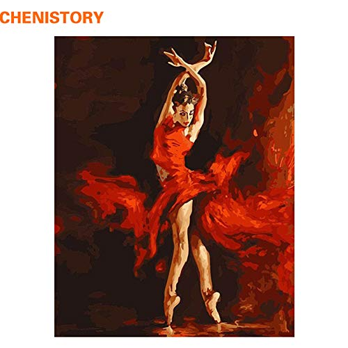 | Painting & Calligraphy | Fire Ballet Dancer DIY Digital Painting by Numbers Kit Coloring Painting by Numbers Wall Art Picture for Wall Artwork | by SULYMY