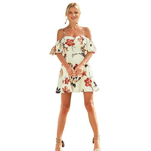 S Vestiti da Beach da estivi Floral Abito Sexy Vestiti Sling Casual WANG dimensioni Xl Print mare donna XL 5qt76vnx