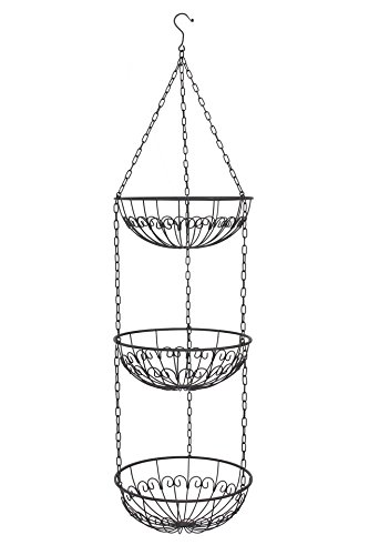 3-Tier Metal Hanging Basket (3pcs 12