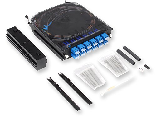 Corning CCH Splice Cassette, 24 Fiber, LC Duplex Singlemode (OS2), Single-Fiber (250 um) CCH-CS24-A9-P00RE by Corning